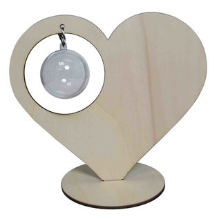Heart standing with 5 cm ball 6320/0013