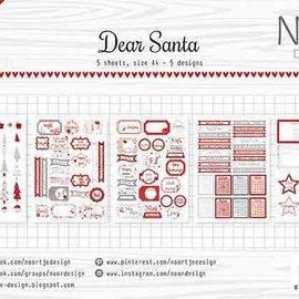 Label/cuttingsheet - Noor - Dear Santa