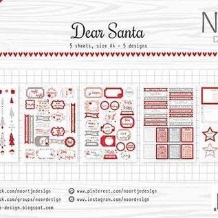 Label/cuttingsheet - Noor - Dear Santa 6011/0418