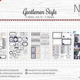 Label/cuttingsheet - Noor - Gentlemen Style