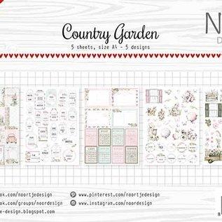 Etikette/ Schneideboge - Noor - Country Garden 6011/0421