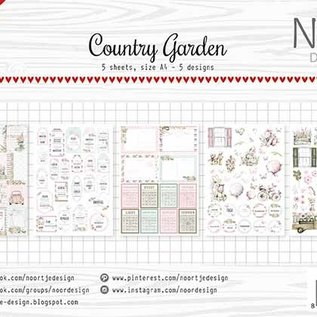 Label  / cutting sheets - Noor - Country Garden 6011/0421