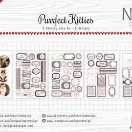 Labelsheets/cuttingsheet - Noor - Purrfect Kitties