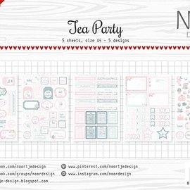 Labelsheets/cuttingsheet  - Noor - Tea Party