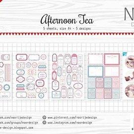 Label sheets / decoupage sheet - Afternoon tea