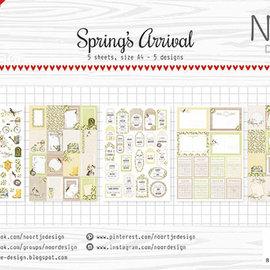 Etikettenblätter - Noor - Ankunft des Frühlings