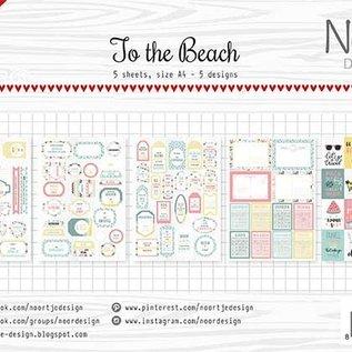 Etikettebogen Noor - At the beach 6011/0428