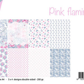 Papierset - Design Pink flamingo