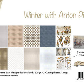 Papierset - Design - Winter met Anton Pieck