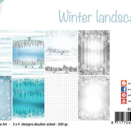 Papierset - Design Winter Landschaft