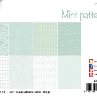 Papierset - Design - Mint-Muster 6011/0648