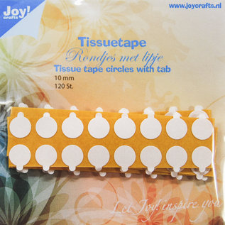 Tissuetape-circles with pull tab - Ø10 mm