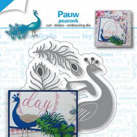 Stanz-präge-debossschablone -  Pfau - 6002/1542