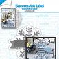 Stanz-prägeschablone - Schneeflockenetikett - 6002/1532