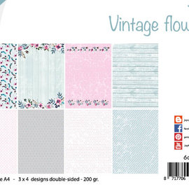 Paper set - Design Vintage Flowers