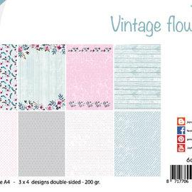 Papierset - Design Vintage Flowers