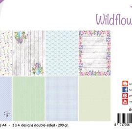 Papierset - Design - Wild flowers/Wildblumen