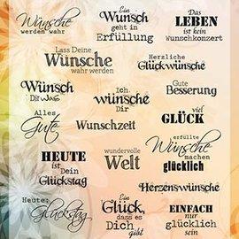 Stempel Wünsche & Glück  6410/0359