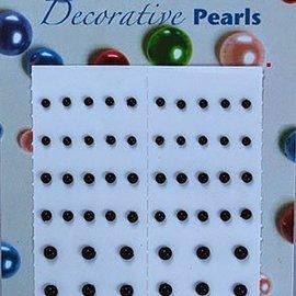 Selfadhesive pearls black