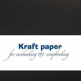 Kraft paper - Black 30,5x15cm
