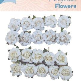 Artificial flowers weiß & creme (klein)