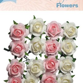 Artificial Flowers rosa & creme