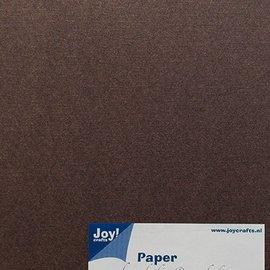 Papierset Leinenstruktur A5 20 Blatt - 200gr Dunkelbraun
