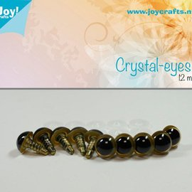 Kristall-Augen - Beige (12mm)