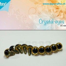 Kristall-Augen - Beige (14mm)