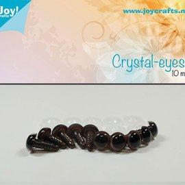 Kristall-Augen - Braun (10mm)