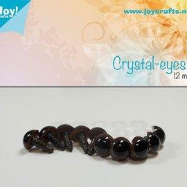Kristall-Augen - Braun (12mm)