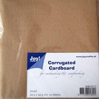 Kraft corrugated cardboard 30,5 x 30,5cm 8089/0215