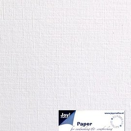 Paper for cardmaking linen structure white A4, 21x29,7cm