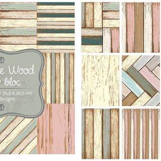 Papierblock - Vintage Holz