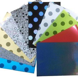 Spiegelkarton, 50 BOGEN, 10 Designs A3