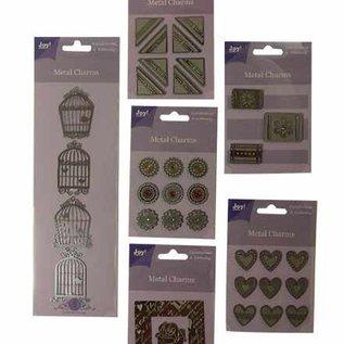 6 packs Metall Charms