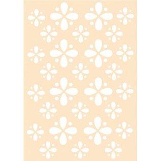 Polybesa Embosstencil - Flowerdesign