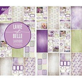 Paper-die cut bloc - Lavender