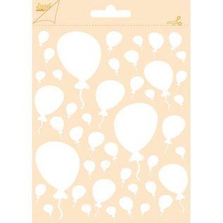 Polybesa embosstencil - Balloons