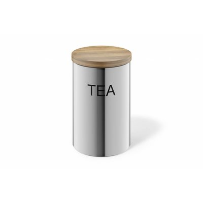Zack CERA container TEA (24004) matt stainless steel