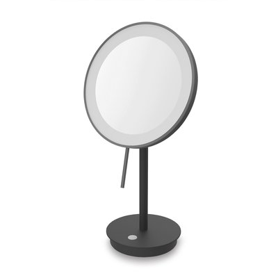 Zack ALONA LED cosmetic mirror standing (black) magnification 5: 1