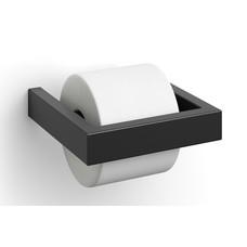 Zack LINEA toilet roll holder (black)
