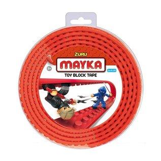 Zuru-Mayka Zuru-Mayka W2R Block Tape 4 Noppen 2m Rood - LEGO Compatible