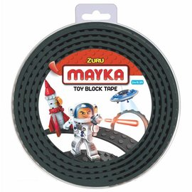 Zuru-Mayka Zuru-Mayka O2BK Block Tape 2 Noppen 2m Zwart - LEGO Compatible