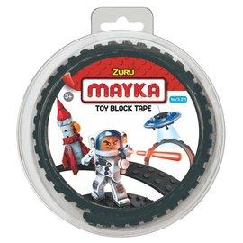 Zuru-Mayka Zuru-Mayka O1BK Block Tape 2 Noppen 1m Zwart - LEGO Compatible