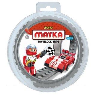 Zuru-Mayka Zuru-Mayka O1GY Block Tape 2 Noppen 1m Grijs - LEGO Compatible
