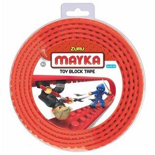Zuru-Mayka Zuru-Mayka O2R Block Tape 2 Noppen 2m Rood - LEGO Compatible