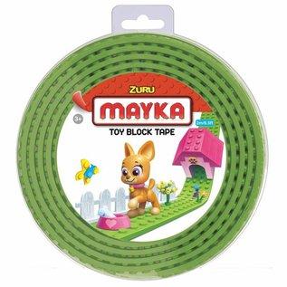 Zuru-Mayka Zuru-Mayka O2LG Block Tape 2 Noppen 2m Licht Groen - LEGO Compatible