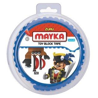Zuru-Mayka Zuru-Mayka O1B Block Tape 2 Noppen 1m Blauw - LEGO Compatible