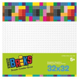 Strictly BRIKS Strictly BRIKS LBP32WH Bouwplaat 32x32 Wit